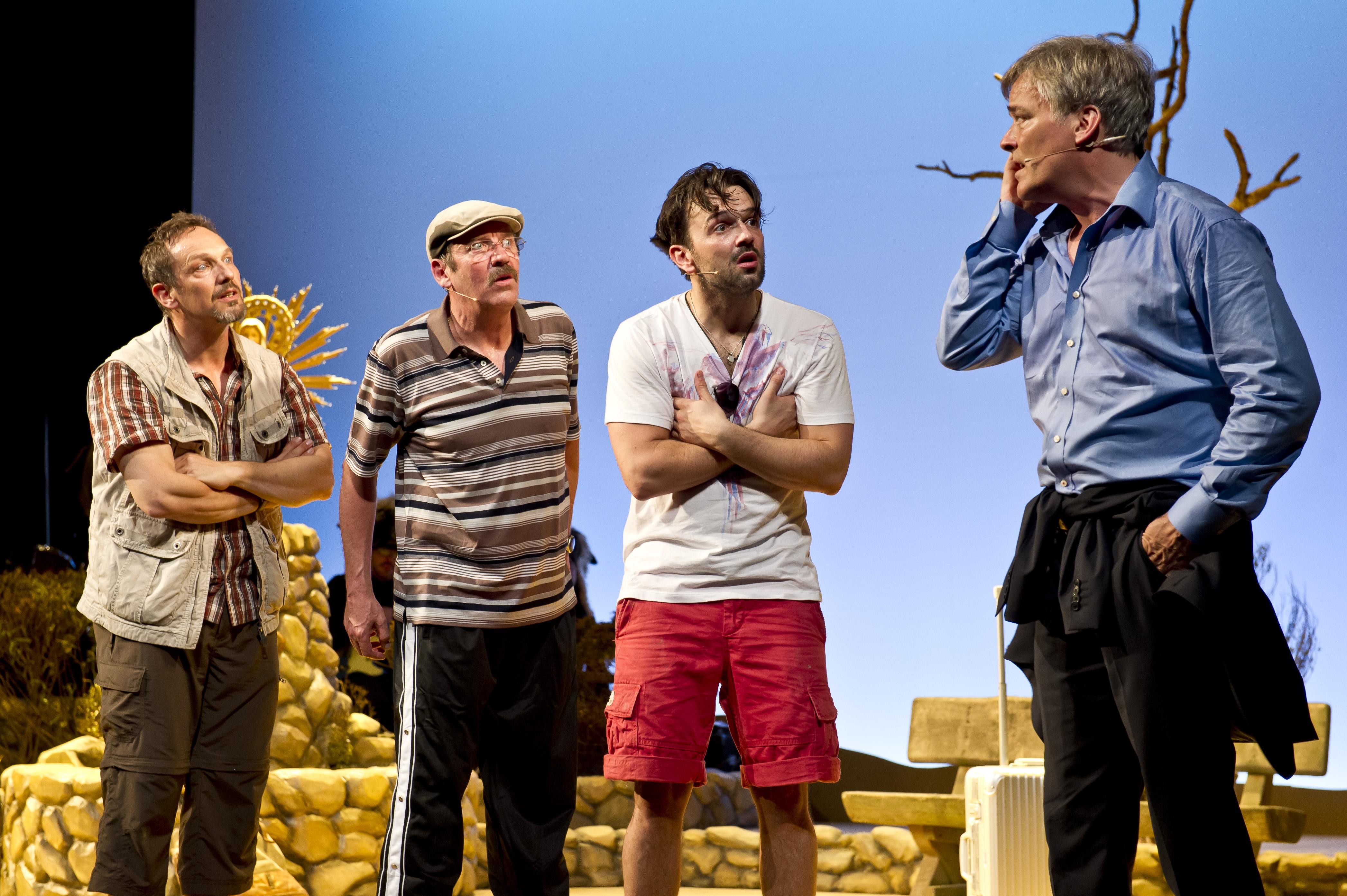 Mann o Mann - Die Midlife-Crisis-Revue - v.l.n.r.: Max Gertsch, Stefan Gossler, Alexander Wipprecht, Stephan Schill - © Oliver Fantitsch