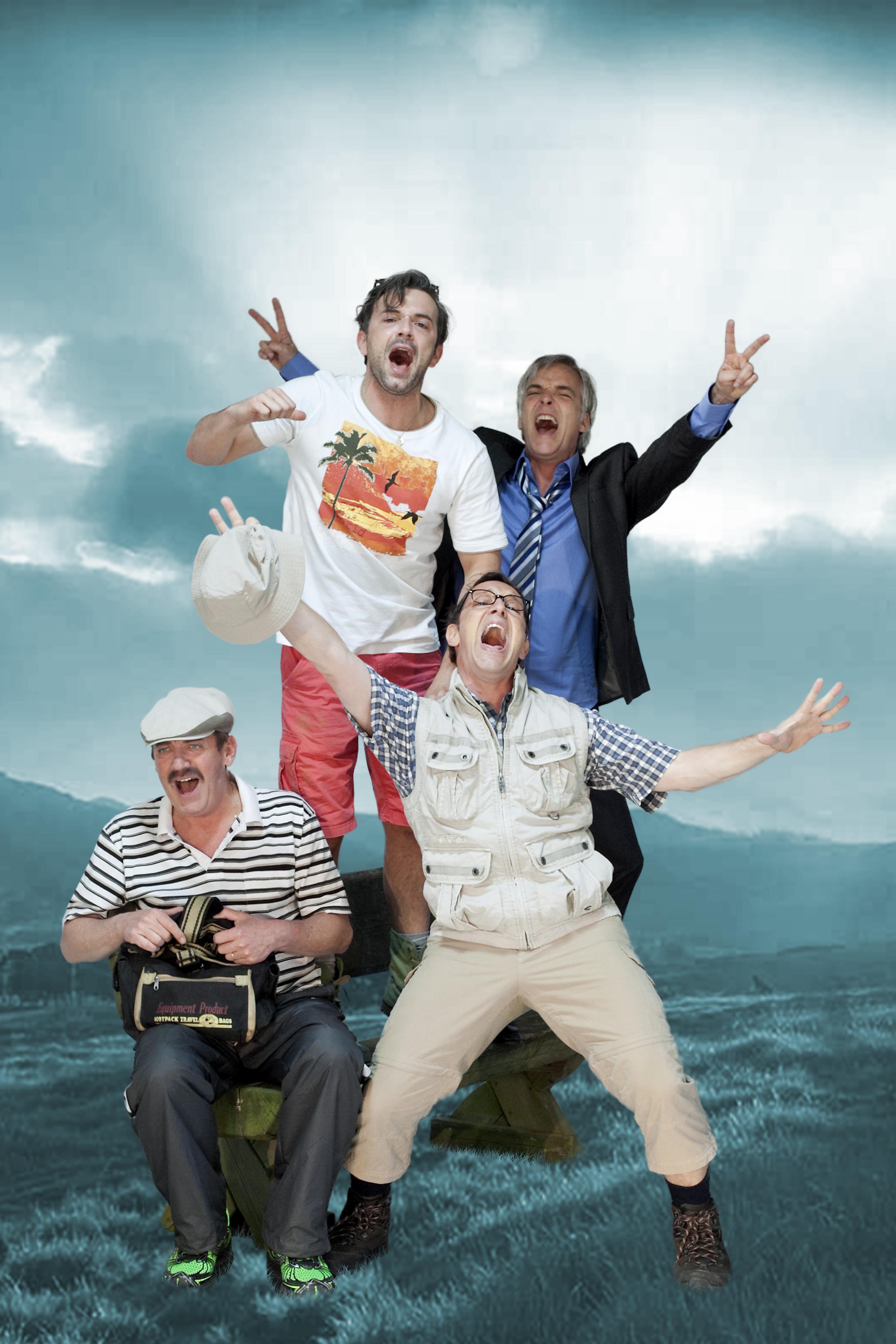 Mann o Mann - Die Midlife-Crisis-Revue - v.l.n.r.: Stefan Gossler, Alexander Wipprecht, Max Gertsch, Stephan Schill -© David Baltzer