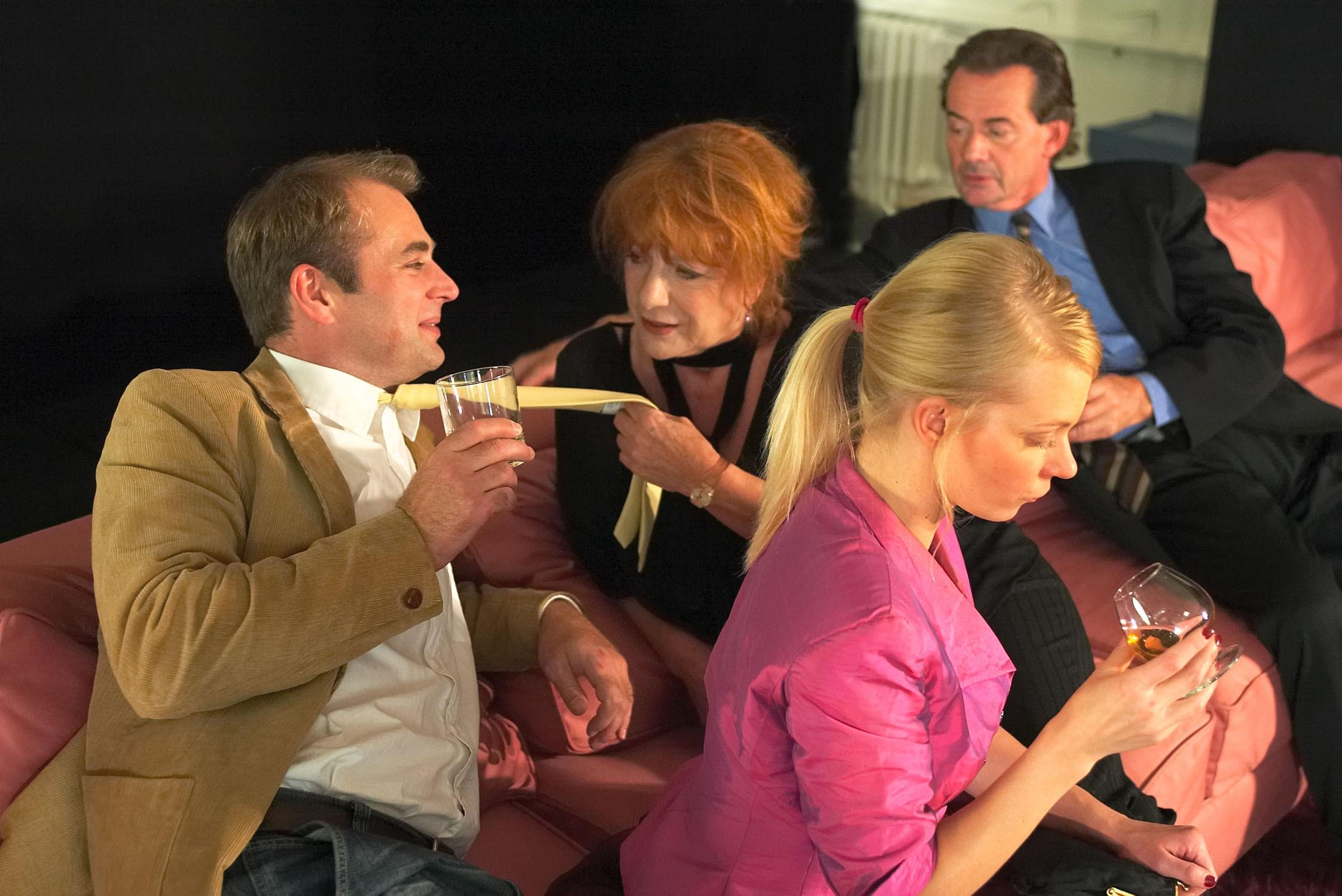 Wer hat Angst vor Virginia Woolf? v.l.n.r.: Gerd Böckmann, Hannelore Hoger, Marcus Bluhm © Brinkhoff / Mögenburg