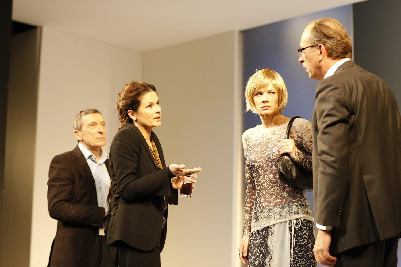 Der Gott des Gemetzels - v.l.n.r.: Rudolf Kowalski, Barbara Auer, Anne Weber, Herbert Knaup - © Jim Rakete