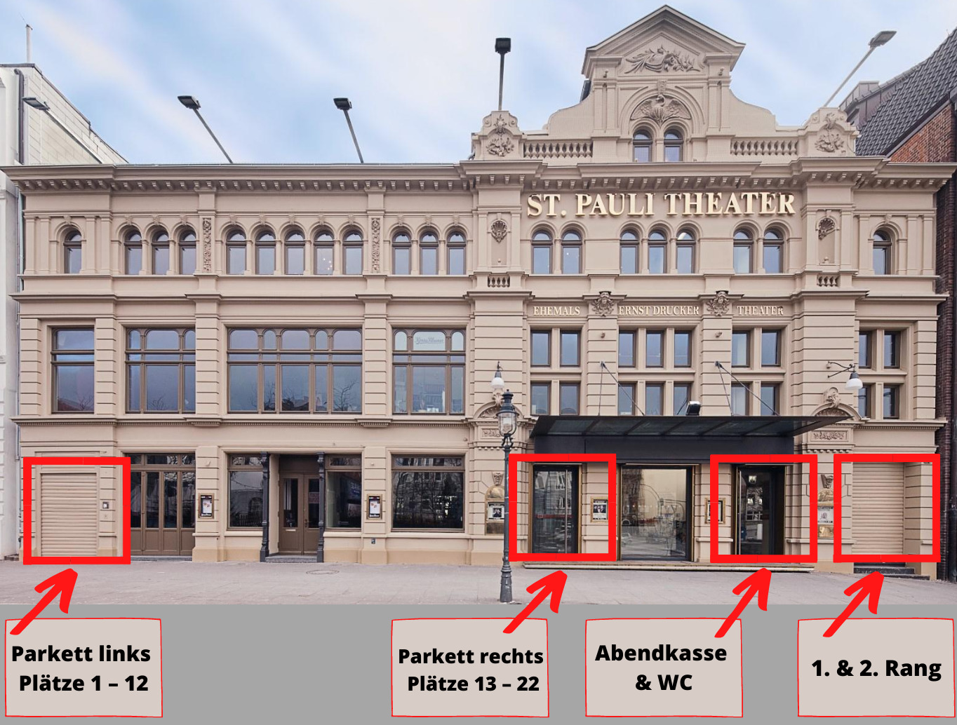 St. Pauli Theater - Wartebereiche